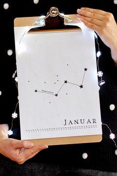 Villa ❤ Stoff: DIY Klemmbrett Kalender • 16 schöne & kostenlose Kalender für 2016 zum selbst ausdrucken