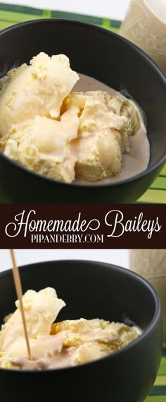 Homemade Baileys Irish Cream - BETTER than the real deal! Great beverage over ice or ice CREAM! So delicious and simple.