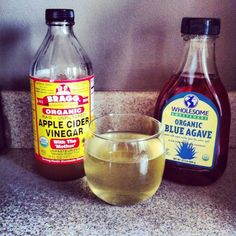 apple cider vinegar health drink... cheers!