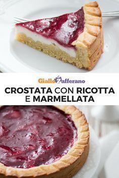 Crostate Bakery Recipes, Dessert Recipes, Just Desserts, Delicious Desserts, Confort Food, Torte Cake, Best Italian Recipes, Strato, Flan