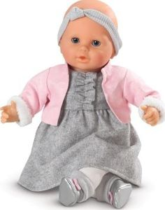 Corolle My classic baby Valentine `One size Details : Face arms and legs in vinyl, Soft body, flannel, Jersey, Imitation leather, Sucks its thumb or a dummy Eyes : blinking eyes Dress sheepskin coat Headband Tights Shoes Color : Grey, Pink, Ecr http://www.comparestoreprices.co.uk/january-2017-7/corolle-my-classic-baby-valentine-one-size.asp