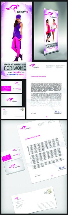 Logo - Business Card - Flyer - Rollup - Header design - ZingaFitS Sportswear Company