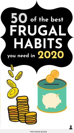 50 Best Frugal Living Tips You Need in 2020 - Finance tips, saving money, budgeting planner Best Money Saving Tips, Ways To Save Money, Money Tips, Saving Money, Money Budget, Living On A Budget, Frugal Living Tips, Frugal Tips, Dave Ramsey