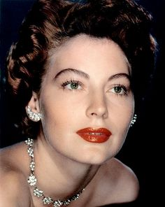Ava Gardner. Brows, Mascara & Lipstick.