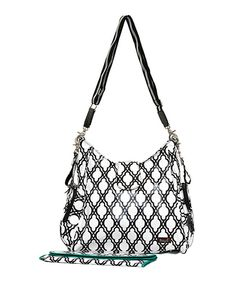 Take a look at this Bayá Black Lattice Messenger Diaper Bag on zulily today!