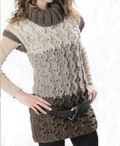 Lavori a maglia gilet a collo alto