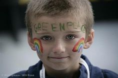 One of our younger supporters...