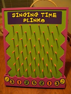 """Singing Time Plinko with """"Disc Drop Game"""" bought from Oriental Trading for """"Price is Right"""" fav so it might be worth it. Primary Songs, Primary Singing Time, Primary Activities, Lds Primary, Music Activities, Church Activities, Primary Lessons, Primary Program, Movement Activities"""