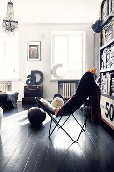 Black Painted Hardwood Floors