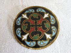 Antique Enamel Cross Design Metal BUTTON by abandc on Etsy, $29.95