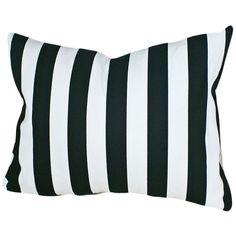 Black and White Striped Pillow, Large, Oblong, Sofa, Couch, Bed,... ($29) ❤ liked on Polyvore