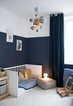 Our new children's room & a hint of Montessori - Baby und Kinderzimmer Inspiration Baby Room Decor, Nursery Decor, Nursery Design, Nursery Ideas, Ideas Habitaciones, Kids Room Design, Baby Boy Rooms, Room Baby, Kids Bedroom