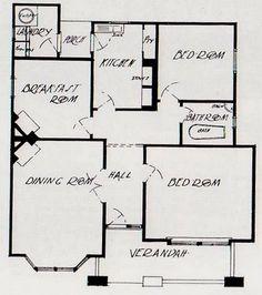 Californian Bungalow: Australia's Favourite Interwar Home Bungalow Floor Plans, House Floor Plans, California Bungalow, Bungalow Exterior, History Projects, Story House, Open Plan Living, Next At Home, Little Houses