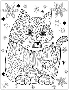 631 Best Cats Dogs Colouring Pages Zentangles Images In 2019