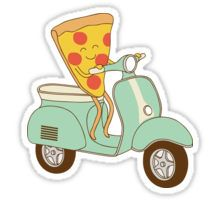 pizza delivery Pegatina