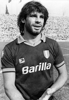 Sebastiano Nela (born 13 March 1961), is an Italian former footballer who played as a defender, usually as a full-back on the left flank, due to his stamina, tenacity and work-rate. At international level, he represented the Italy national football team on five occasions between 1984 and 1987, and participated at the 1986 FIFA World Cup and the 1984 Olympics. He is a member of the A.S. Roma Hall of Fame. Italy National Football Team, 1984 Olympics, 13 March, As Roma, Football Pictures, Fifa World Cup, Soccer Players, Vintage Photos, All About Time