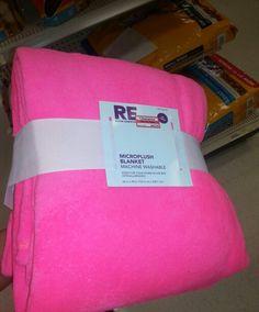 Hot neon pink microplush blanket