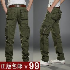 Autumn and winter thick male casual pants outdoor loose overalls military pants plus size multi pocket pants male trousers on AliExpress.com. $57.37