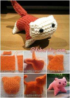 Easy Knitted Cat Free Pattern - http://theperfectdiy.com/easy-knitted-cat-free-pattern/ #DIY