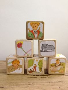 The Little Prince // Childrens Book Blocks // by StorybookBlocks, $26.00