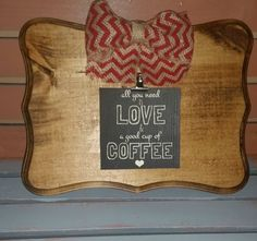 Reclaimed Wood Picture Holders by 5oh4Designs on Etsy