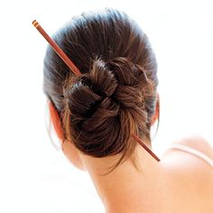 10 Ways to Sexy Hair  Indulge Fantasies  No, we're not pushing Princess Leia's braids and bikini! But next time you reach for a ponytail holder, think sexy secretary. Twist hair into a low chignon, then secure it with a pencil, chopstick or, our fave multitasker, Clarins's smoldering black liner pencil with a tapered, tuckable end ($23; visit macys.com for stores).
