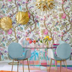Inspirational ideas about Interior Interior Design and Home Decorating Style for Living Room Bedroom Kitchen and the entire home. Curated selection of home decor products. Dining Room Inspiration, Home Decor Inspiration, Inspiration Design, Casa Decor 2017, Estilo Kitsch, Decoration Table, Dining Room Design, Of Wallpaper, Home Design
