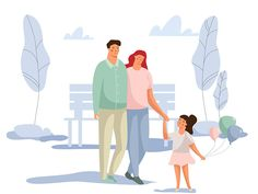 Family by Ani - Dribbble Flat Design Illustration, Family Illustration, People Illustration, Character Illustration, Digital Illustration, Tree Illustration, Family Drawing, Cartoon People, Graphic Design Inspiration