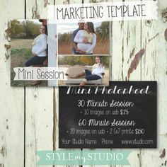 Photo Mini Session Template : : : photography template for sale marketing board / maternity