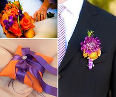 Purple and Orange Weddings
