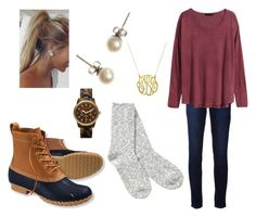 Comfy but cute by lyanders on Polyvore featuring polyvore, fashion, style, H&M, TNA, Paige Denim, L.L.Bean, J.Crew and MICHAEL Michael Kors