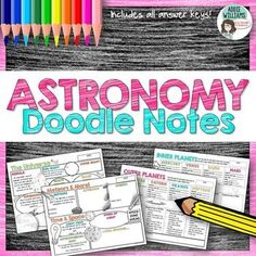 Astronomy / Planets / Solar System Doodle Notes - 4 pages of doodle graphic organizers! Includes all answer keys. ($)