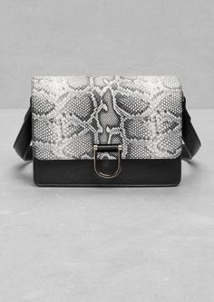 & Other Stories | Snakeskin-Embossed Leather Bag
