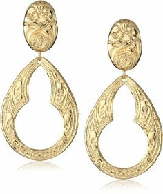 Yochi Filigree 14k Gold Plated Drop Earrings Yochi. $39.00. 14k Gold Plated. Post Earring. Key Hole design. Made in United States