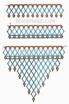 Free pattern for necklace Waterfall   Beads Magic