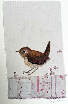 I treasure the old and worn and refashion them into little textile collages in my attic studio in a converted manse in Northumberland, England.: