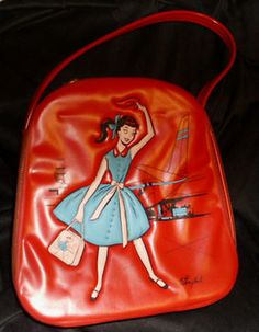 Vintage girl's purse, 1950's - 1960's.