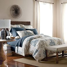 The Company Store Organic Surrey Leaf Bedding | The Company Store. www.thecompanystore.com  I read on another website that organic cotton is a better option for people who have allergies or other sensitivies as the chemicals and dyes in conventional products may irritate them.