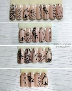 Installation of acrylic or gel nails - My Nails Nail Art Hacks, Gel Nail Art, Nail Art Diy, Acrylic Nails, Flower Nail Designs, Nail Art Designs, Blue Nails, My Nails, Nail Drawing