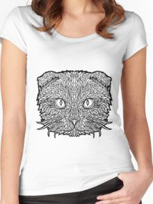 Scottish Fold - Complicated Cats Women's Fitted Scoop T-Shirt