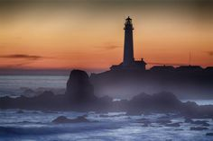 Lighting the Coast: California Lighthouses You Can Visit: Sunset at Pigeon Point Lighthouse