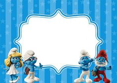 Using Smurf invitations is an incredibly sweet style of sending the news of an upcoming birth party. Free Printable Invitations Templates, Printable Recipe Cards, Free Printables, Christening Themes, Smurf Village, Smurfette, 2nd Birthday Parties, Disney Wallpaper, Birthday Invitations