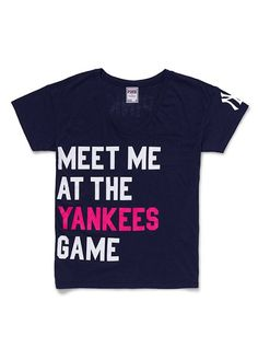 Victoria's Secret PINK New York Yankees Boyfriend Tee #VictoriasSecret http://www.victoriassecret.com/clearance/pink-loves-major-league-baseball/new-york-yankees-boyfriend-tee-victorias-secret-pink?ProductID=55584=CLR?cm_mmc=pinterest-_-product-_-x-_-x