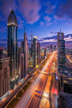 Dubai is an extremely futuristic city that looks straight out of a Sci-Fi movie. People often tell me it reminds them of Blade Runner. Especially during the evening and night the combination of light and car trails can make for 'out-of-this-world' images.
