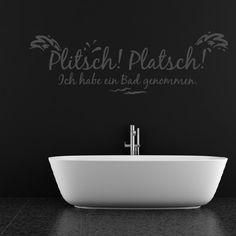 Plitsch! Platsch! Ich Habe Ein Bad Genommen Wansticker Wandtattoo Ziat Kunst