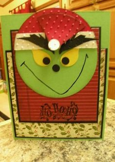 DIY Grinch Cards. Pinned for Kidfolio, the parenting mobile app that makes sharing a snap!