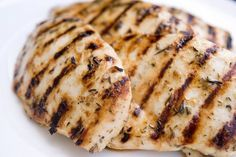 Perfectly Grilled Chicken Breasts with Lemon Zest, Garlic & Herb Marinade