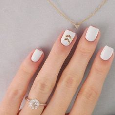 Really love this simple yet cute nail design!