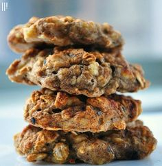 healthy chai banana oat cookies