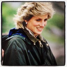 Diana in Barbour